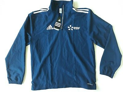 Adidas Blue Navy lightweight men's football jacket top  size 36/38 new with tags