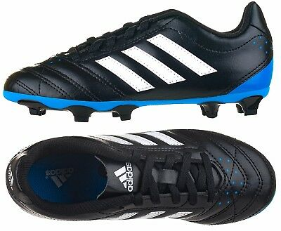 adidas Goletto V FG Football Boots Kids Children s Boys Black White New    Boxed ef208b0174bbb