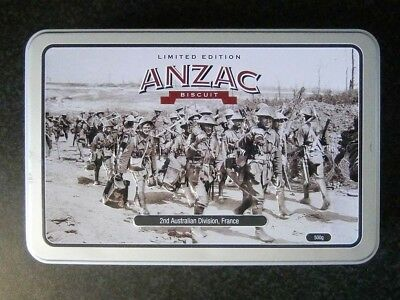 Collectable 500G Rsl Anzac Biscuit Tin - 2Nd Australian Division, France