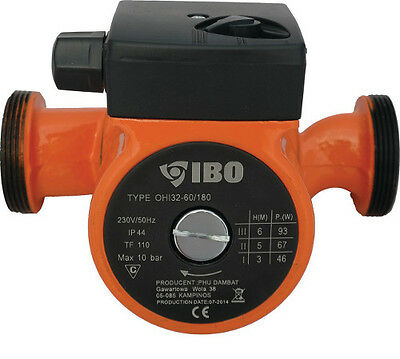 IBO OHI 32-60/180 Circulator Pump Cent. Heating replaces GRUNDFOS DAB MYSON WILO