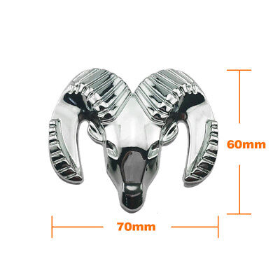 1x3D Metal RAM Head Logo Car Auto Tailgate Emblem Sticker Badge Decal For Dodge