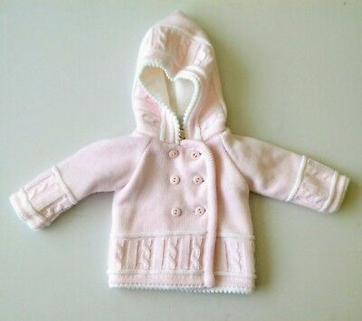 02bc06158 BABY GIRLS TRADITIONAL Romany Double Breasted Knitted Pram Coat ...