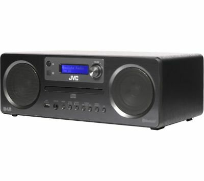 JVC Wireless Traditional Hi-Fi System DAB / FM radio USB Bluetooth Black RD-D70