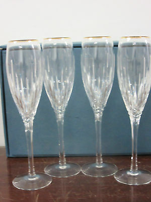 "Lenox Superior fine crystal 1-box of 4-flutes 10""tall 2""top all new from showroo"