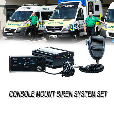 5 Sound Loud Car Warning Alarm Police Fire Ambulance Siren PA MIC System 100W