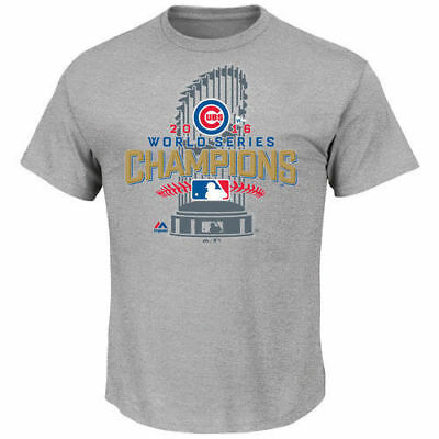 Chicago Cubs Majestic Youth 2016 World Series Champions Locker Room T-Shirt