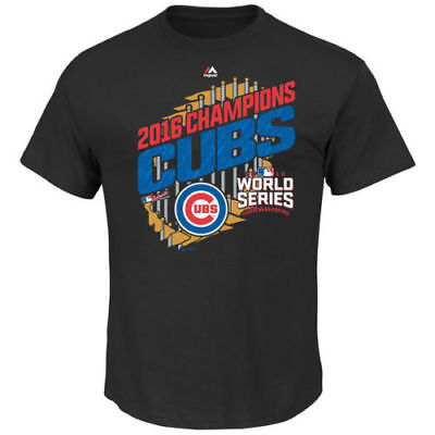 Chicago Cubs Majestic Youth 2016 World Series Champions Parade T-Shirt - Black