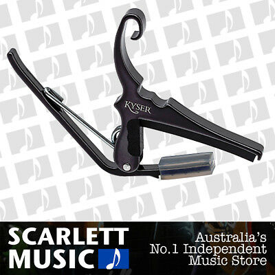 Kyser KGCB Quick Change Trigger Style Capo for Classical Guitar - Black