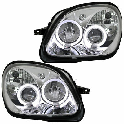 2 Feux Phare Avant Angel Eyes Led Mercedes Classe Slk R170 De 04/1996 A 04/2004