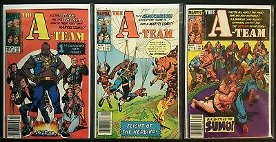 The A-Team Lot of #1, 2, 3 | Marvel Comics 1984 Complete Set TV Show Adaptation