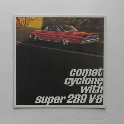 Mercury Brochure Comet Cyclone 289 V-8