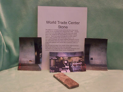 """World Trade Center""""WTC""""Stone~Building #5~1998 w/Pictures"""