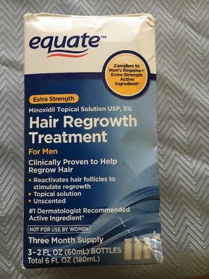 Equate Hair Regrowth Treatment For Men 3 Month Supply Bottles exp 2019 +