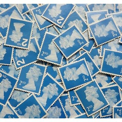 100 Unfranked 2nd Second Class Stamps Off Paper Nice and Clean #100
