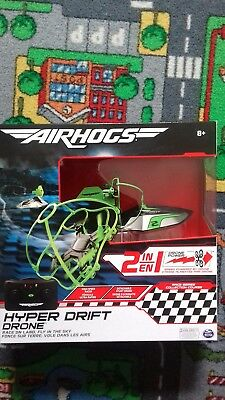 Air Hogs Hyper Drift Drone Indoor RC 24GHz 2in1 Land Stunts Racing Green