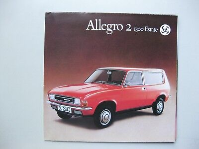 Austin Allegro 2 1300 Estate folder brochure Prospekt Dutch text 12 pages 1976