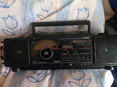"Vintage ....radio - Double Cassette Stereo Record Lecteur Cd ""philips"""