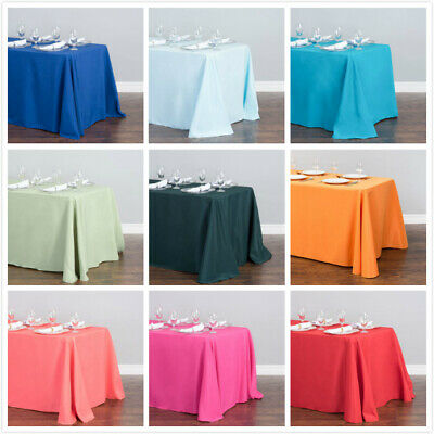 LinenTablecloth 90 x 156 in. Rectangular Poly Tablecloths, 33 Colors!