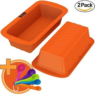 Loaf Pans - Set of 2 - 100% Pure Food Grade Nonstick Professional Silicone
