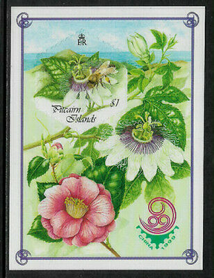 Pitcairn Is. #508a Mint Never Hinged S/Sheet - Honey Bees and Flowers