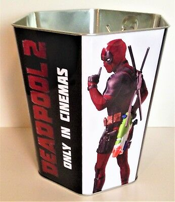 Deadpool 2 Movie Theater Exclusive 130 oz Metal Embossed Popcorn Tin #2
