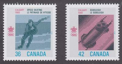 Canada 1987 #1130-31 1988 Olympic Winter Games - MNH Set of 2