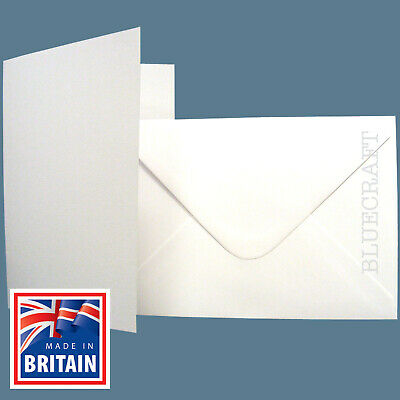 A5 C5 Premium White Card Blanks with Envelopes - Pre Creased - All Quantity Pack