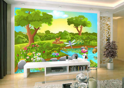 Animals In Spring 3D Full Wall Mural Photo Wallpaper Printing Home Kids Decor