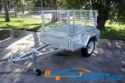 5x3 Hot Dip Galvanised Fully Welded Tipper Box Trailer With 600mm Removable Cage