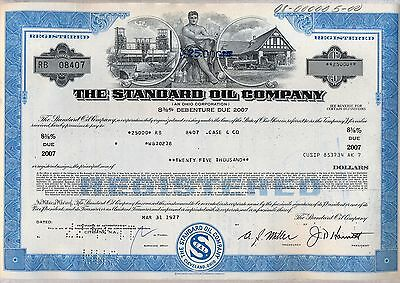 Wholesale lot of 10 Standard Oil Company Bond Stock Certificates Gas BP Ohio