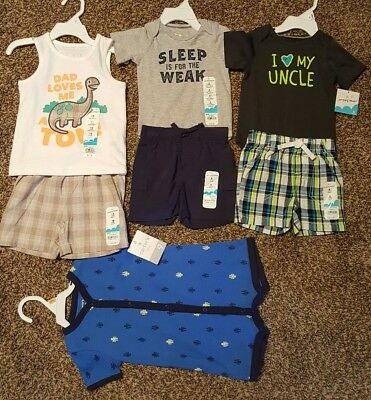 Carters Jumping Beans Boys 3m 6m 9m 12m 18m Lot of 4 Outfits NEW