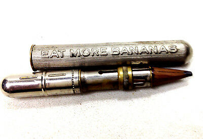 "Antique Vintage ""Eat More Bananas But They Must Be Ripe"" Doctors Medical Pencil"