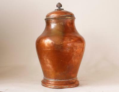 Antique German Copper Hand-hammered Beer Stein Pitcher c.late 1700s -early 1800s