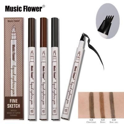 3 Farbe Sourcils Waterproof Micro-Précision Microblading Tattoo Eyebrow Ink Pen