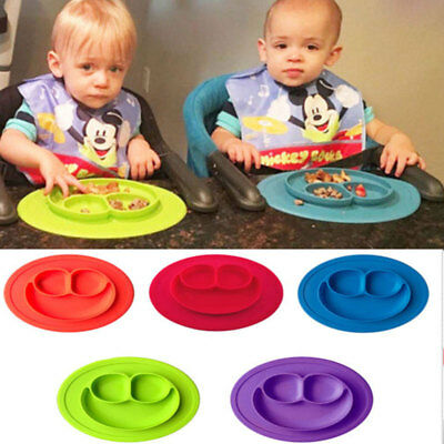 One* Piece Silicone Placemat Plate Dish Food Tray Table Mat  for  Baby Toddler