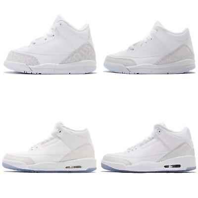 f89f8824210759 NIKE AIR JORDAN 3 Retro III Pure White Cement Elephant 2018 Family Size IN  HAND -  76.99