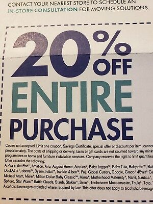1 Bed Bath & Beyond 20% off entire purchase!