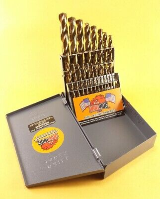 Drill Hog® 21 Pc Cobalt Drill Bit Set Twist M42 Round Shank Lifetime Warranty