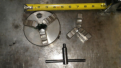 phase ii 4inch 3 jaw chuck with set of extra jaws