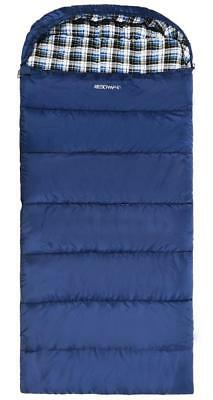 REDCAMP Cotton Flannel Sleeping Bag for Adults, 23/32F Comfortable, Envelope...