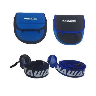 Nawaish 2 Pack Fishing Reel Cover for Spinning Rods and Braided Rod Sleeve...
