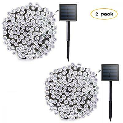 Lalapao 2 Pack Solar String Lights 72ft 22m 200 LED 8 Modes Powered Xmas...