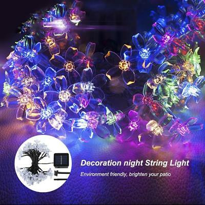 Outdoor solar powered string lights waterproof Blossom Flower 23 FT 50 LEDs...