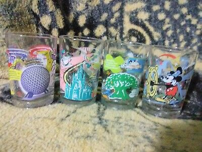 McDonald's Disney World 100 Year Anniversary Glasses, COMPLETE set of 4.