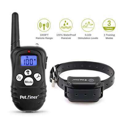 Petrainer Dog Training Shock Collar LCD Remote Waterproof E Collar Rechargeable
