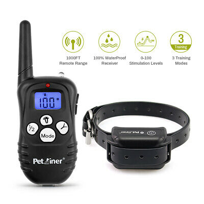 Petrainer Dog Training Shock Collar Rechargeable E Collar Beep Vibrate Shock