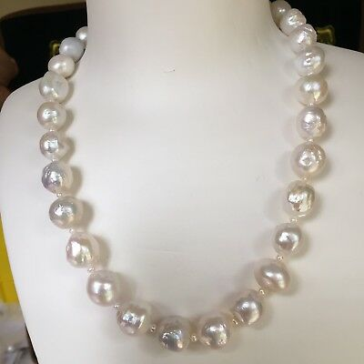 Kasumi Baroque Pearl Nature White 12-13.5mm elegant necklace 46cm High Luster