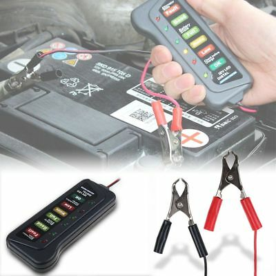 Car Motorcycle Digital Battery Tester Alternator Load 12V Vehicle 6LED Display