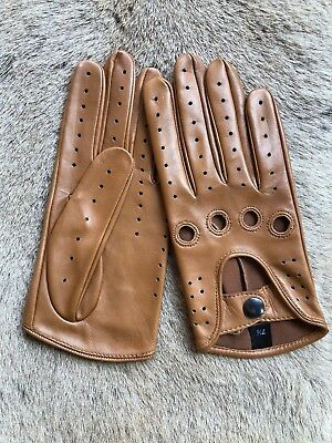 Tab Brown Women's Driving Leather Gloves