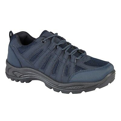 Mens Hiking Trail Trek Walking Shoes Trainers Navy Blue